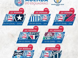 CBF divulga tabela detalhada de mais sete jogos do Bahia
